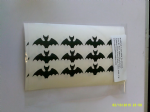 30 x  Bat stickers - great for Halloween